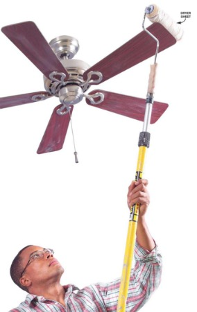 6 Easy Cleaning Ceiling Fans Tips One Crazy Mom