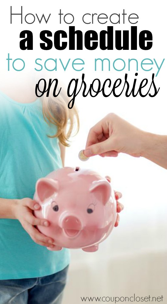create schedule to save money on groceries