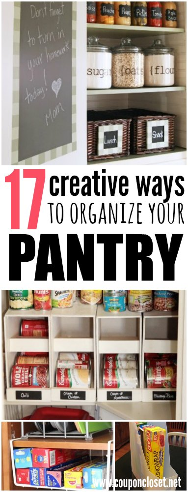 Here are 17 frugal food pantry organization. Pantry organization doesn't have to cost a fortune. How to organize pantry without spending a lot of money.
