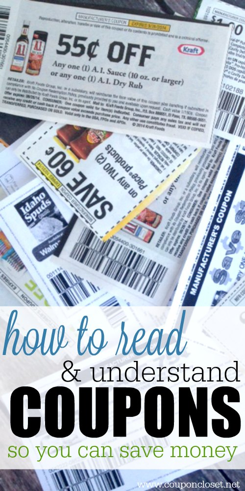 how to read and understand coupons