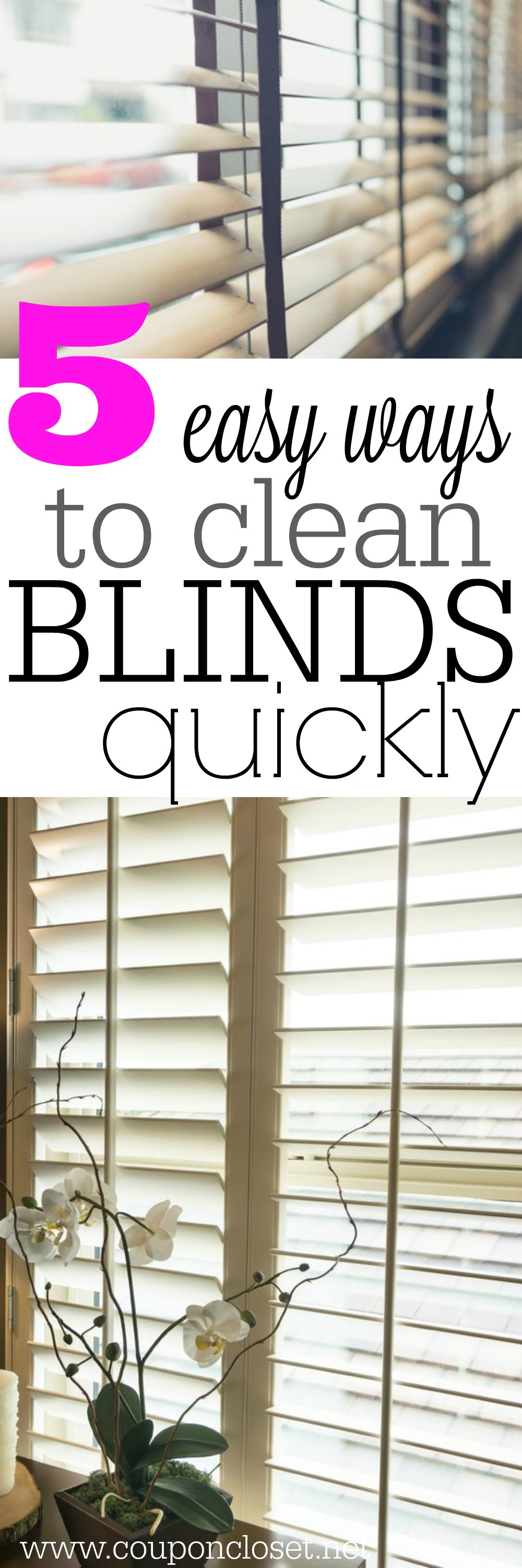 How To Clean Blinds Easily 5 Easy Ways One Crazy Mom