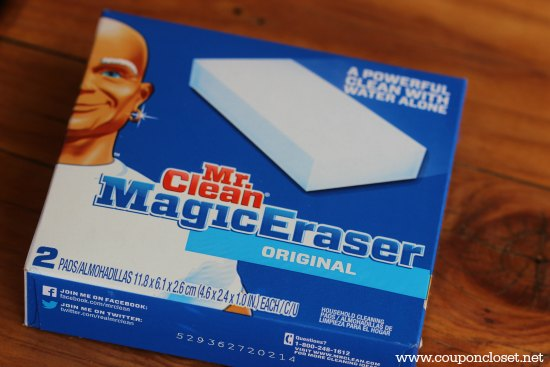 -Uses for Mr Clean Magic Erasers - close up