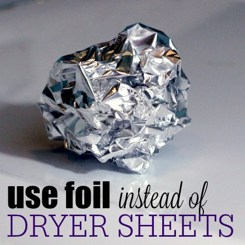 eliminate static cling with foil square