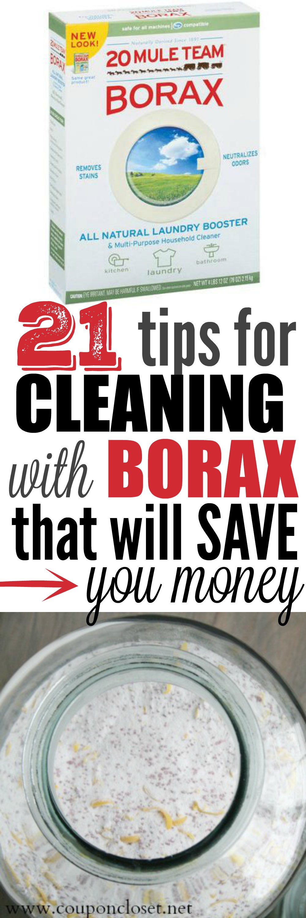 frugal tips for cleaning with borax