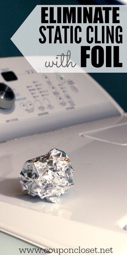 how to eliminate static cling with foil