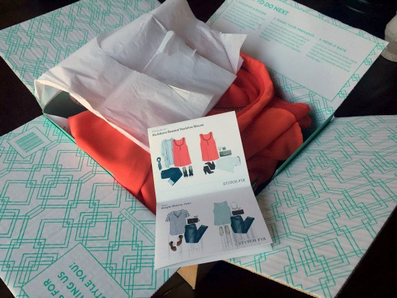 my stitch fix review - open box