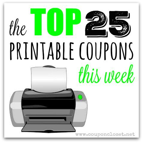 top 25 printable coupons - saturday coupon roundup