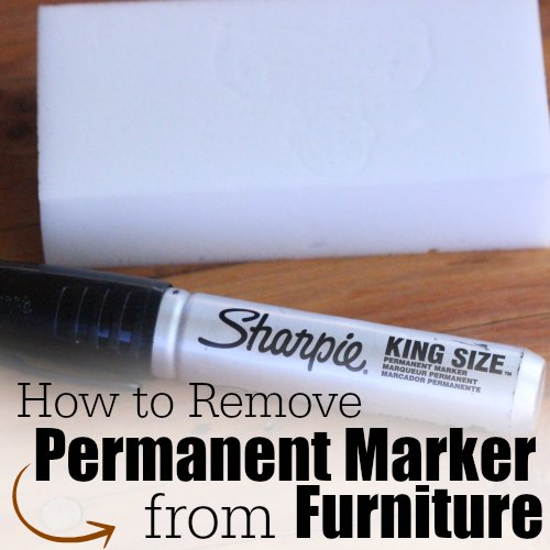 How to Remove permanent marker from furniture square