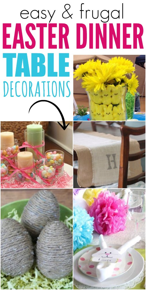 Easter dinner table decorations one crazy mom for Easter dinner table decorating ideas