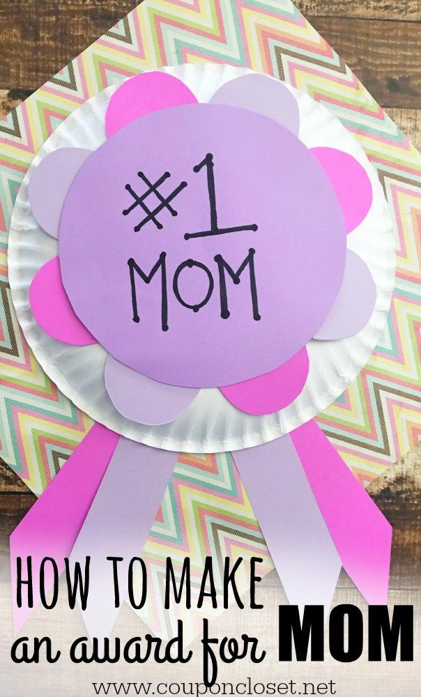 homemade award for mom