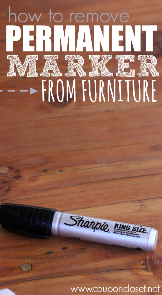 how to remove permanent marker from furniture