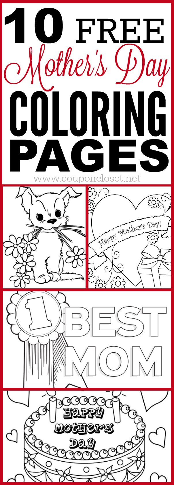 We Have A List Of Free Mothers Day Coloring Pages That The Kids Can Color  For