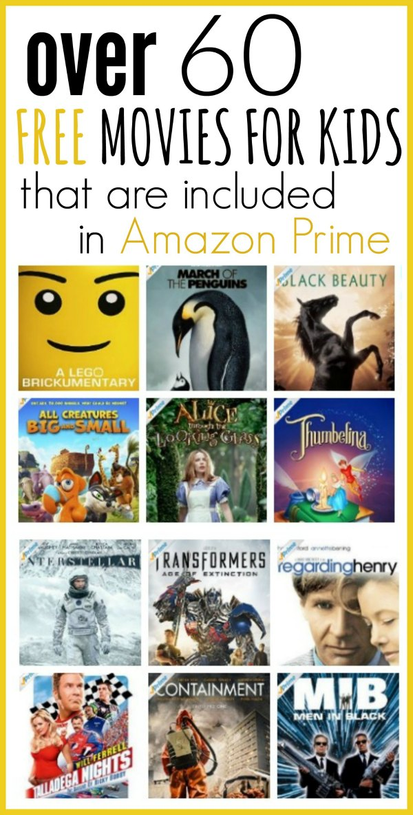60 of the Best Free Amazon Prime Movies for Kids - One ...