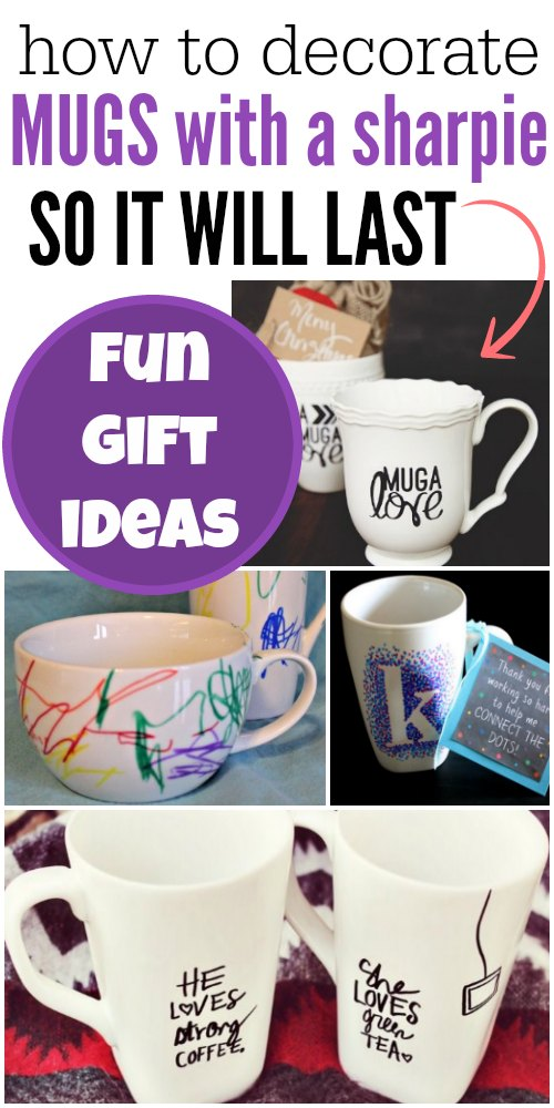 diy sharpie mugs - love these easy sharpie mug gift ideas