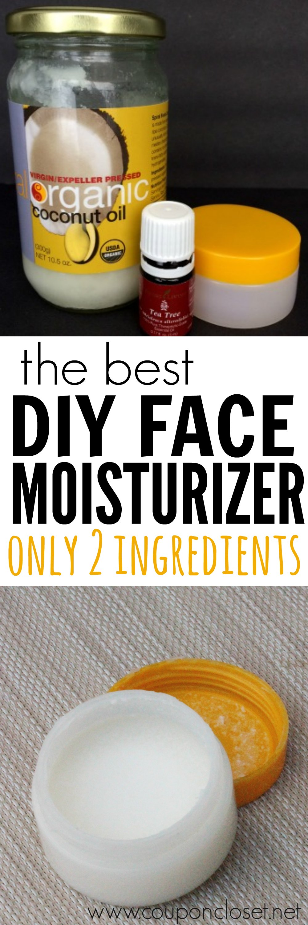 You are going to love this homemade face cream. With only 2 ingredients anyone can make this DIY face moisturizer cream. I promise you are going to love this easy and frugal DIY face moisturizer!