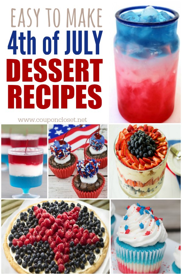 Delicious 4th of july dessert recipes one crazy mom for Fourth of july party dessert ideas