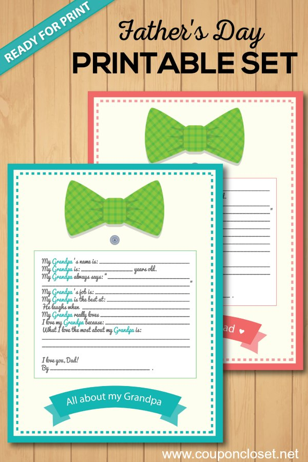 fathers day gift idea - fathers day printable for grandpa
