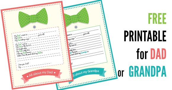 fathers day printable facebook image