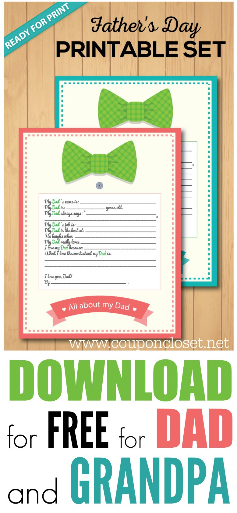 free fathers day printable - the best fathers day gift idea