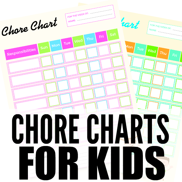 free printable chore charts for kids square