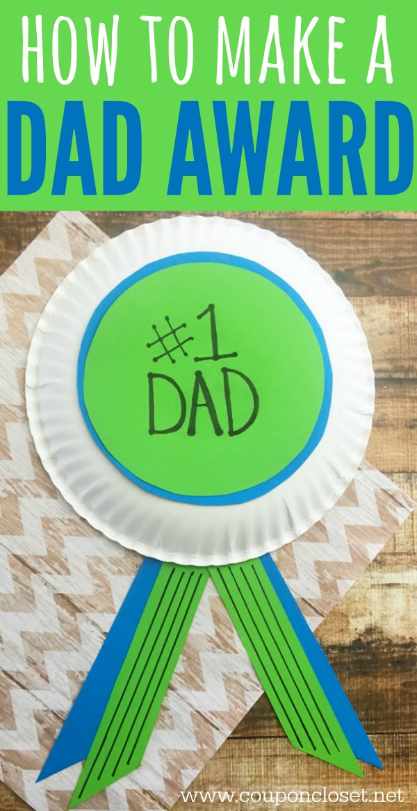 homemade father day gift idea - how to make a dad award