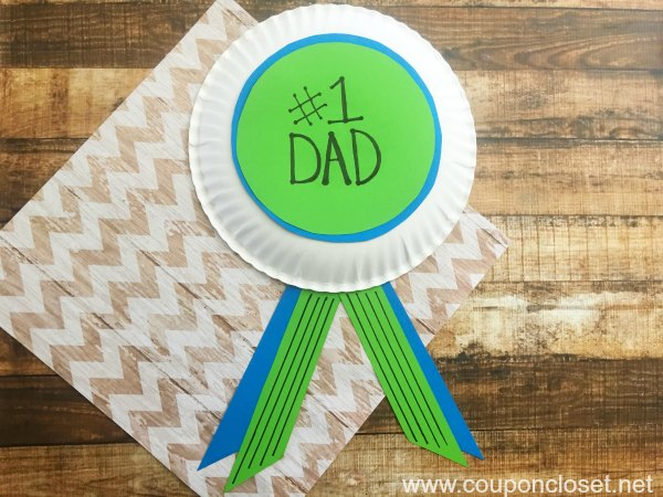 homemade fathers day gift idea - number 1 dad
