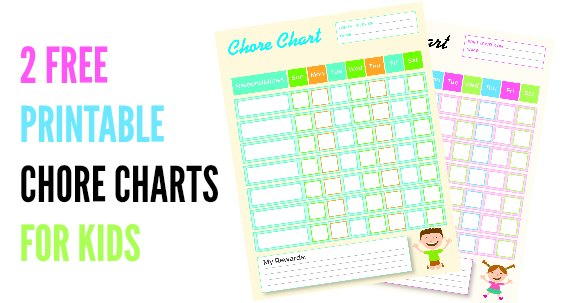 printable chore charts for kids facebook