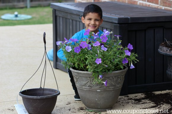 save on flowers - get the kids involved