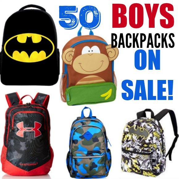 Boys Backpacks on sale - 50 Kids backpacks for boys