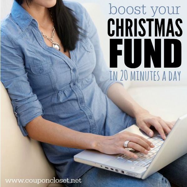 Here are some easy ways to earn money for your christmas savings account in just 20 minutes a day. Earn money at home for Christmas