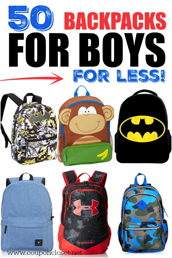 c043fc2cf70 Save on Back to school shopping with these 50 boys backpacks on sale. These  kids