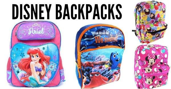 493a66bb4e7 Huge list of 50 Disney backpacks on sale for back to school sales. Popular  backpacks