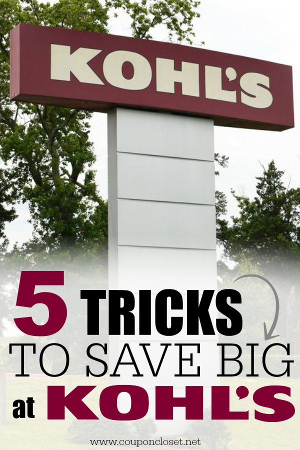 how to save money at kohls