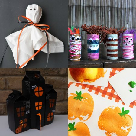 over 25 Easy Halloween Crafts for Kids - One Crazy Mom