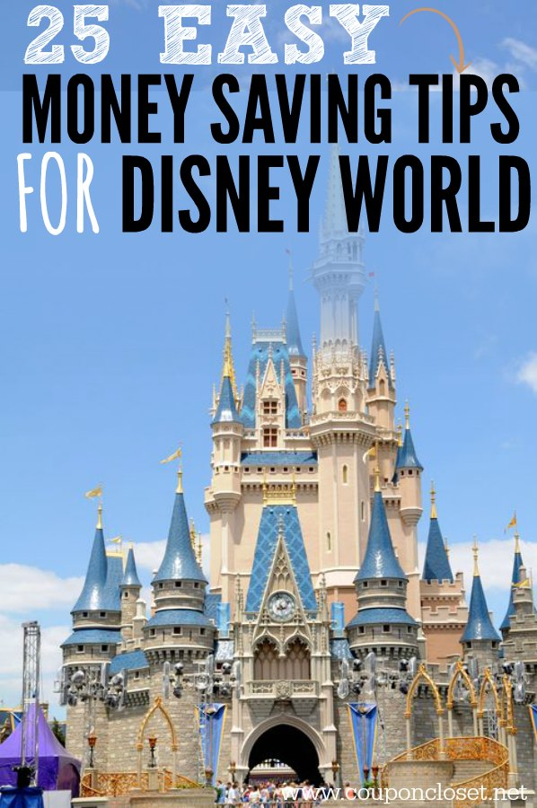 15 easy Money Saving Tips for Disney World - How to Save Money at Disney World quickly and easily. These are the best ways to save at Disney World