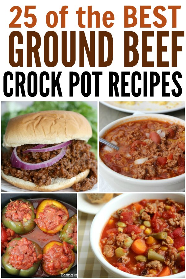 Looking for Ground Beef crock pot recipes? Here are ground beef recipes in the crock pot that you are going to love. Here are 25 frugal and quick meals with ground beef.