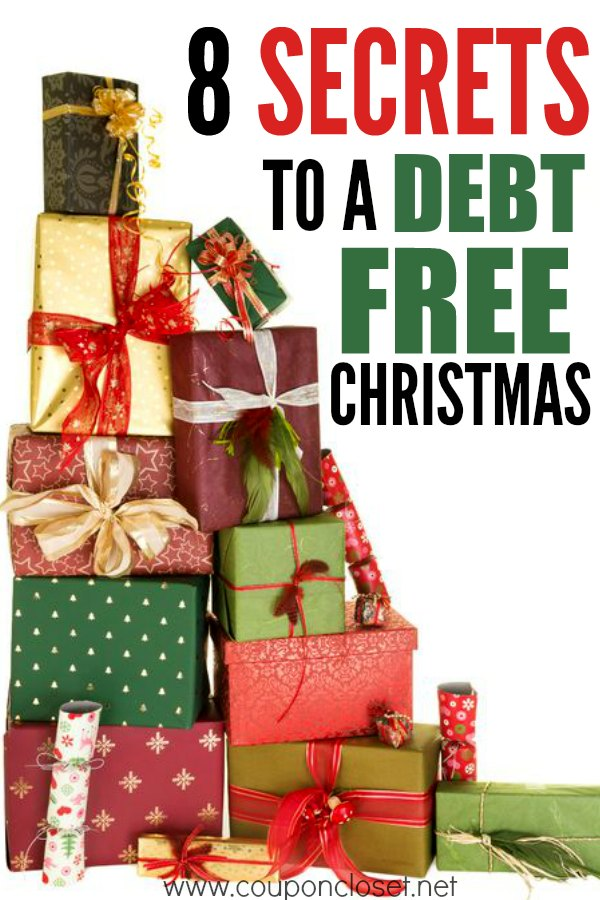 Wanting to save on Christmas shopping? Here are 8 secrets to a debt free Christmas. No money for Christmas? That is ok, we have tips to help you this year.