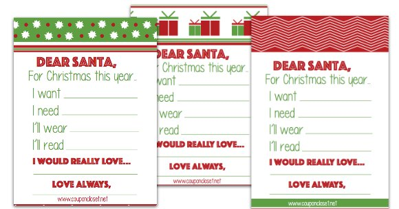 Mail a letter to Santa with these free Santa letter printables. They are perfect for the kids to fill out and mail a letter to Santa.