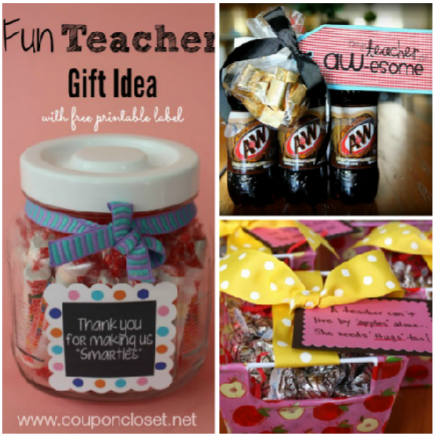 20 Christmas gift ideas for teachers. These gifts for teachers are frugal & fun. We have some homemade gift ideas for teachers and even fun gift card ideas.