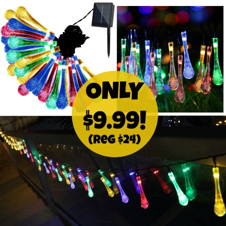 Price Drop Solar Outdoor String Lights Only 9 99 Reg
