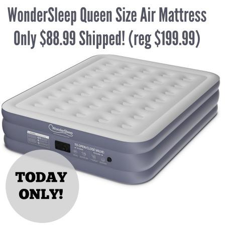 Today Only Wondersleep Queen Size Air Mattress Only Shipped Reg Coupon Closet