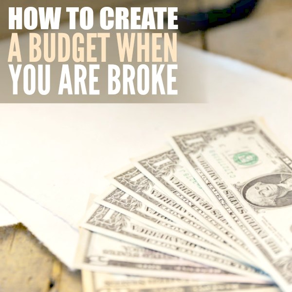 How to create a budget that you can actually stick with. Here are easy tips on how to make a budget when you are broke. Creating a budget is easy to do with these tips.