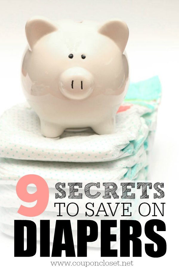 How to save on diapers - easy secrets to get printable diaper coupons, and how to buy diapers online without going broke. Never pay full price for diapers again.