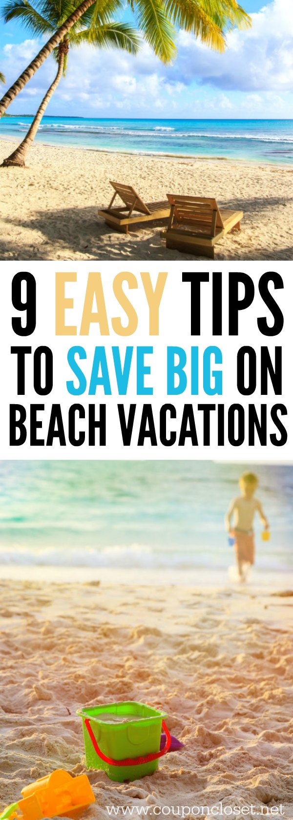 Here are some easy ways to save money on beach vacations. Beach vacations don't have to be expensive with these easy money saving tips.