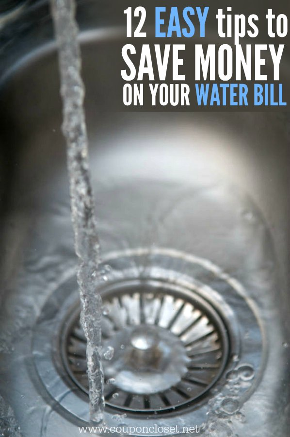 Looking for easy money saving tips? Quick and easy ways to save money on the Water bill - Here are 12 easy money saving tips to save big on your water bill.