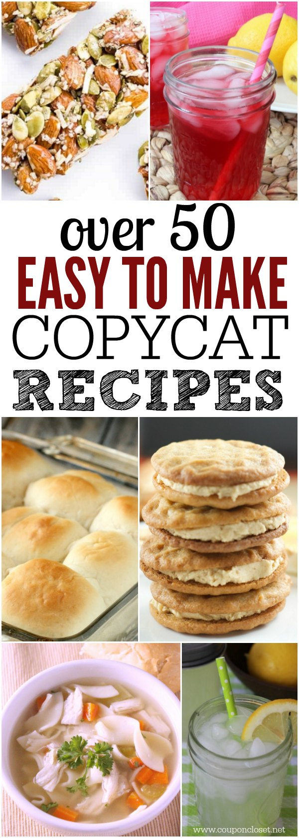 Here are over 50 quick and easy copycat recipes you will love. Try one of the best Restaurant recipes to make at home and save money.