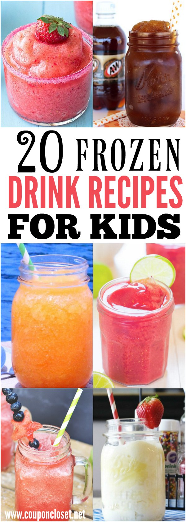 Take a look at these 20 kid friendly frozen drink recipes. Beat the heat with these quick and easy drinks. They are all so delicious and refreshing!