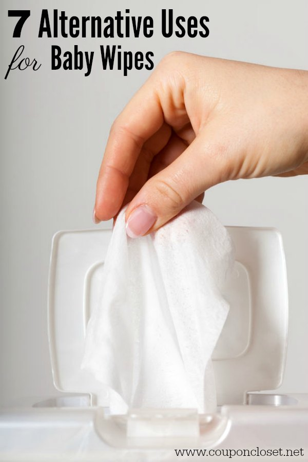 Check out these 7 alternative uses for baby wipes. These life hacks don't cost much and use baby wipes. You may want to grab an extra pack today!