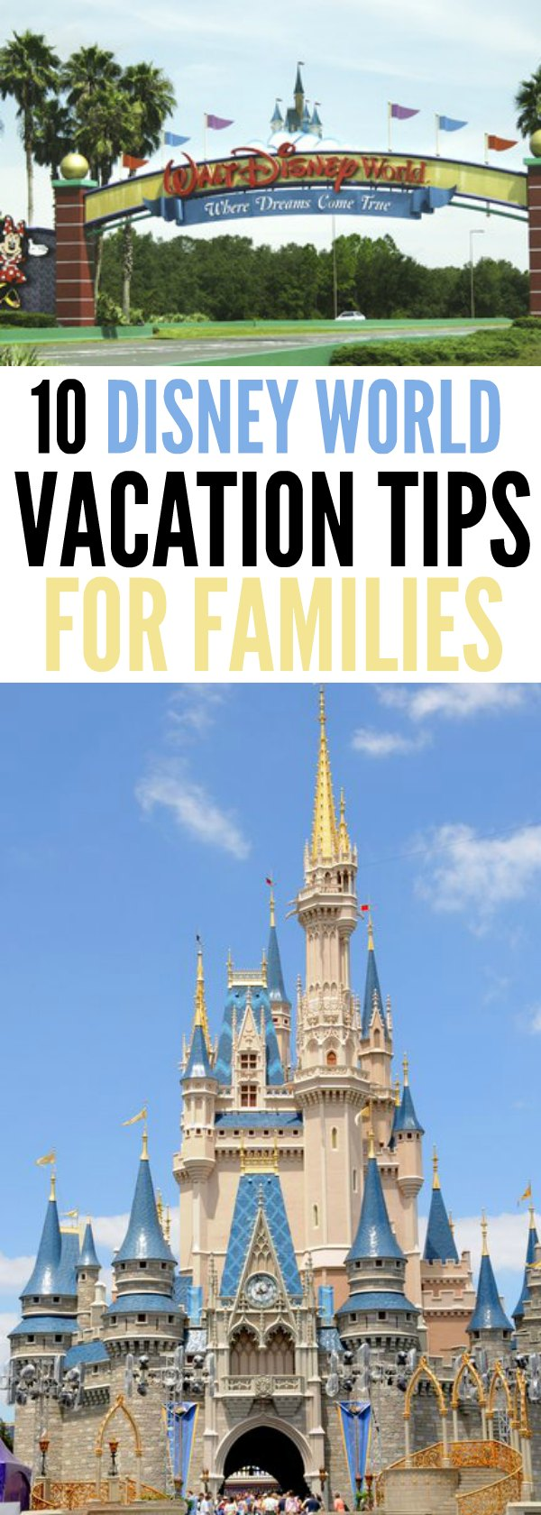 Check out these Disney World vacation tips for families. You will save time and money with these 10 tips making your Disney vacation a success.