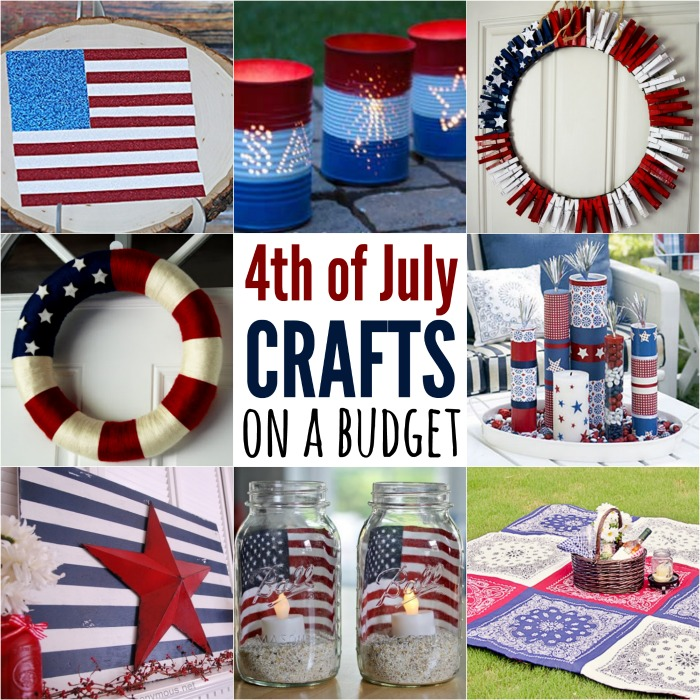 Check out these Fourth of July Crafts. You can make any celebration patriotic with these 4th of July Crafts for your home.
